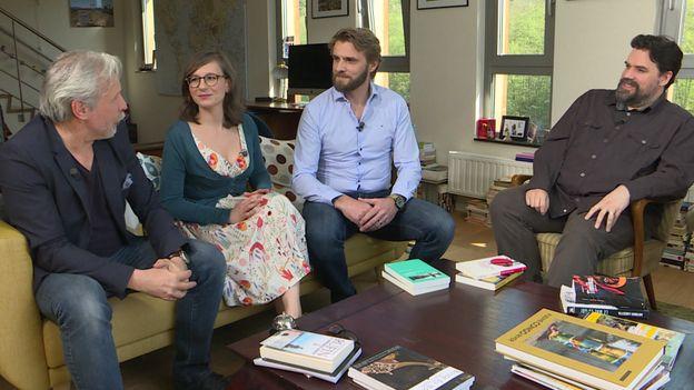Thierry Bellefroid, Laurence Vanderhaegen, Joël Schuermans et Michel Dufranne