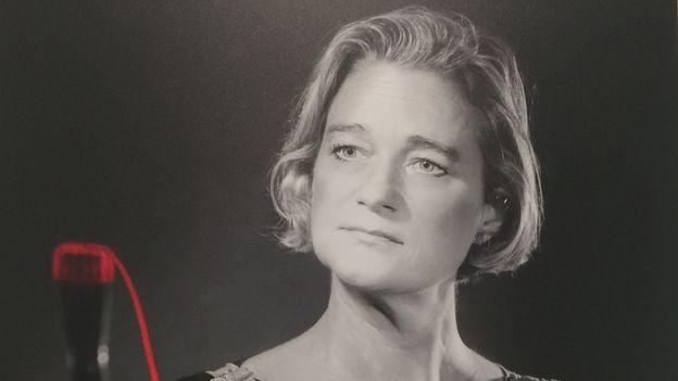 Delphine Boël lors d'un shooting photo « La Corde Red » de Stéphane De Coster
