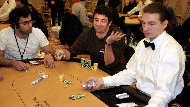 Patrick Bruel à la finale des championnats d'Europe de poker à Monaco en 2005