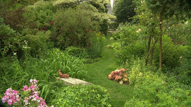 Jardin privé d'André Eve à Pithiviers