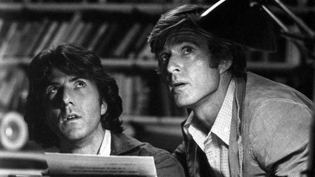 """Dustin Hoffman et Robert Redford sont """"Les Hommes du Président"""""""