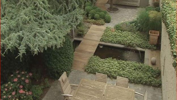 Un jardin de ville à Jambes, en bord de Meuse