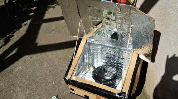 Le réflecteur avec papier alu et miroirs