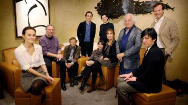 1ère séance de délibération du prix Rossel, le 6 novembre, dans un hôtel de la capitale