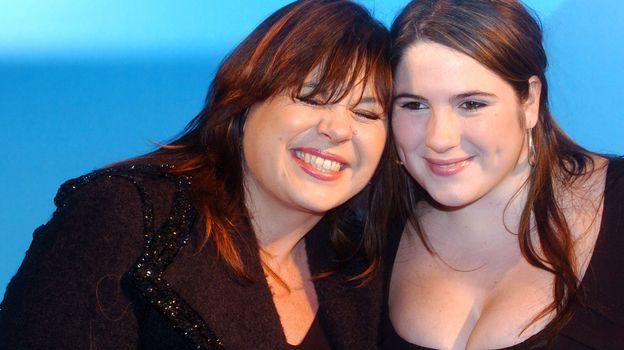 Michèle Bernier et sa fille en 2006.