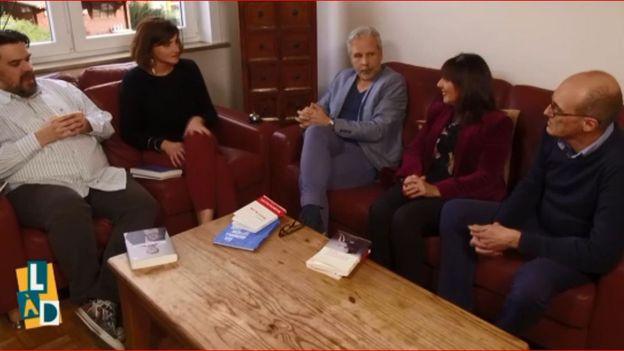 Michel Dufranne, Maud Carlier d'Odeigne, Thierry Bellefroid, Mary Alvarez et Rudy