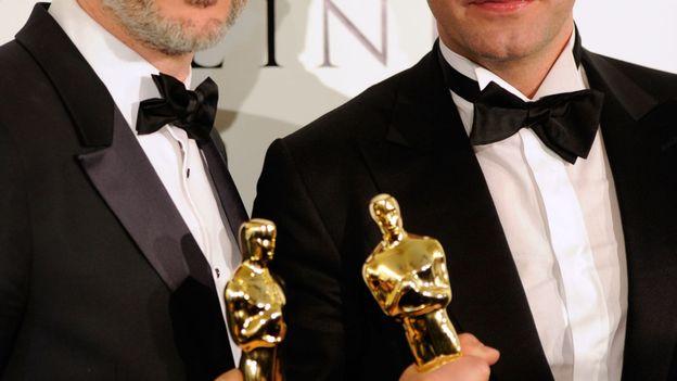 """Michel Hazanavicius et Jean Dujardin récompensés pour le film """"The Artist"""""""