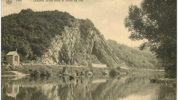 Carte postale ancienne Belgique. TILFF. Chapelle Sainte Anne et Grotte