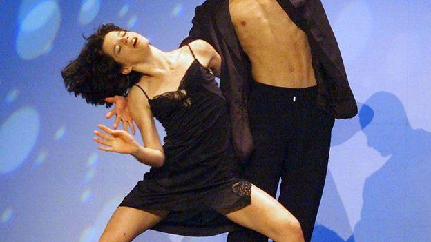 Juliette Roudet en juillet 1999 lors du Grand Prix Eurovision des jeunes danseurs.