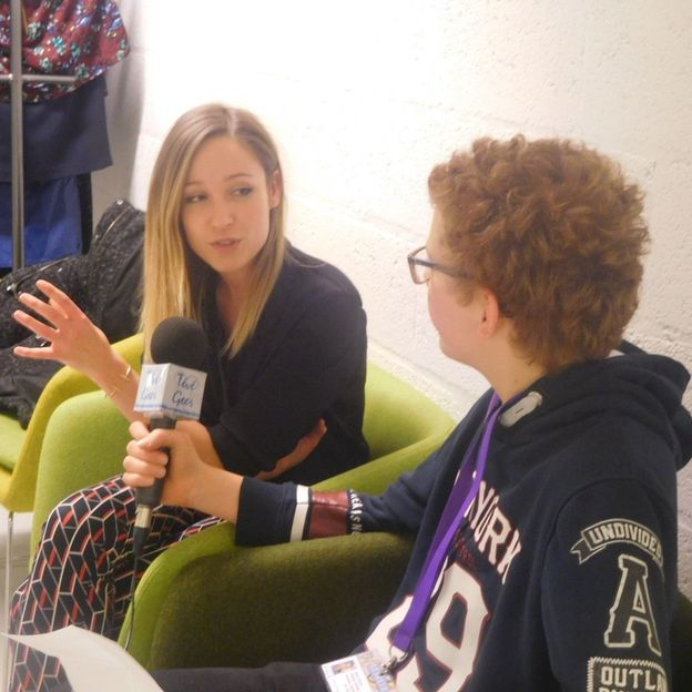 Sarah Grosjean en interview