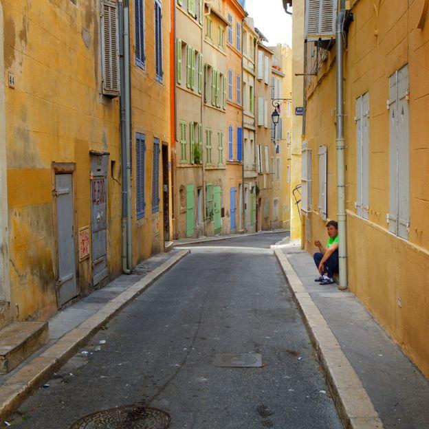 Man smoking in Panier Marseille France