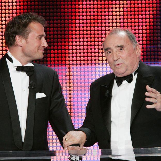 Alexandre et son père Claude en 2007 lors des Molières
