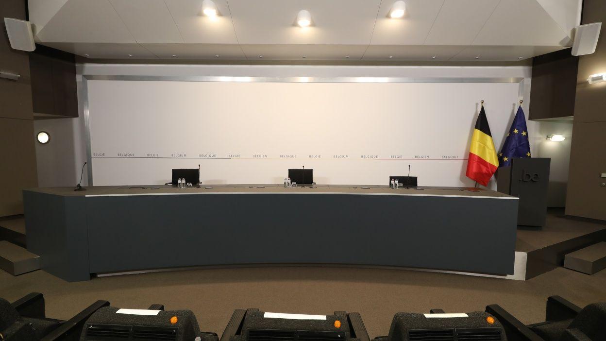 Conférence de presse des autorités belges