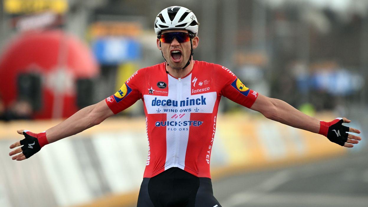 El danés Kasper Asgreen gana en solitario tras varios intentos de escapada