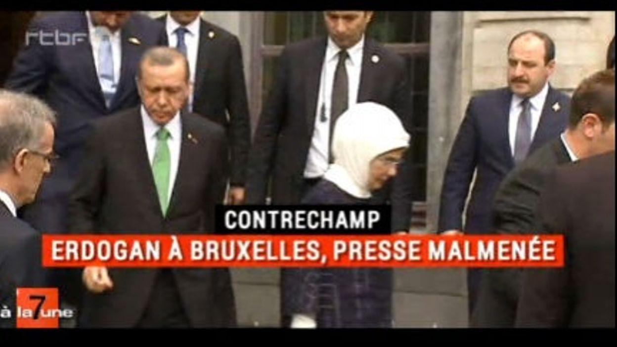 Erdogan à Bruxelles - Le contrechamp de 7 à la Une