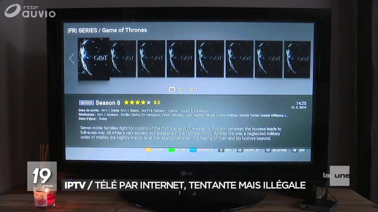 IPTV : la télévision par internet illégale - JT 19h30 - 16/05/2019