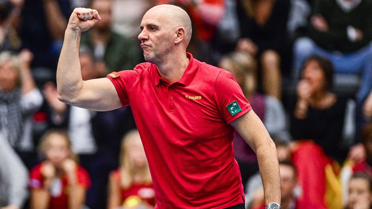 Johan Van Herck après la victoire de la Belgique