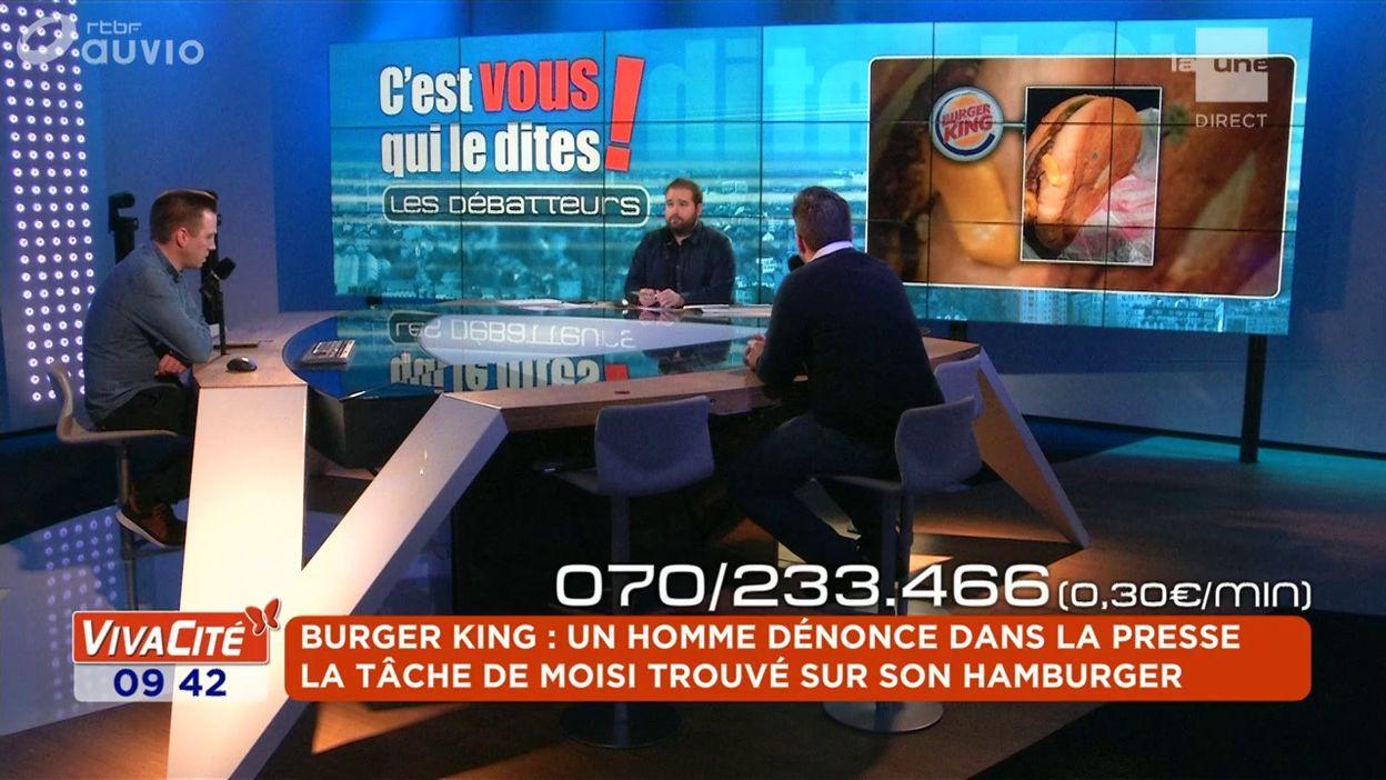 Burger King : Un homme dénonce dans la presse la tache de moisi trouvé sur son hamburger