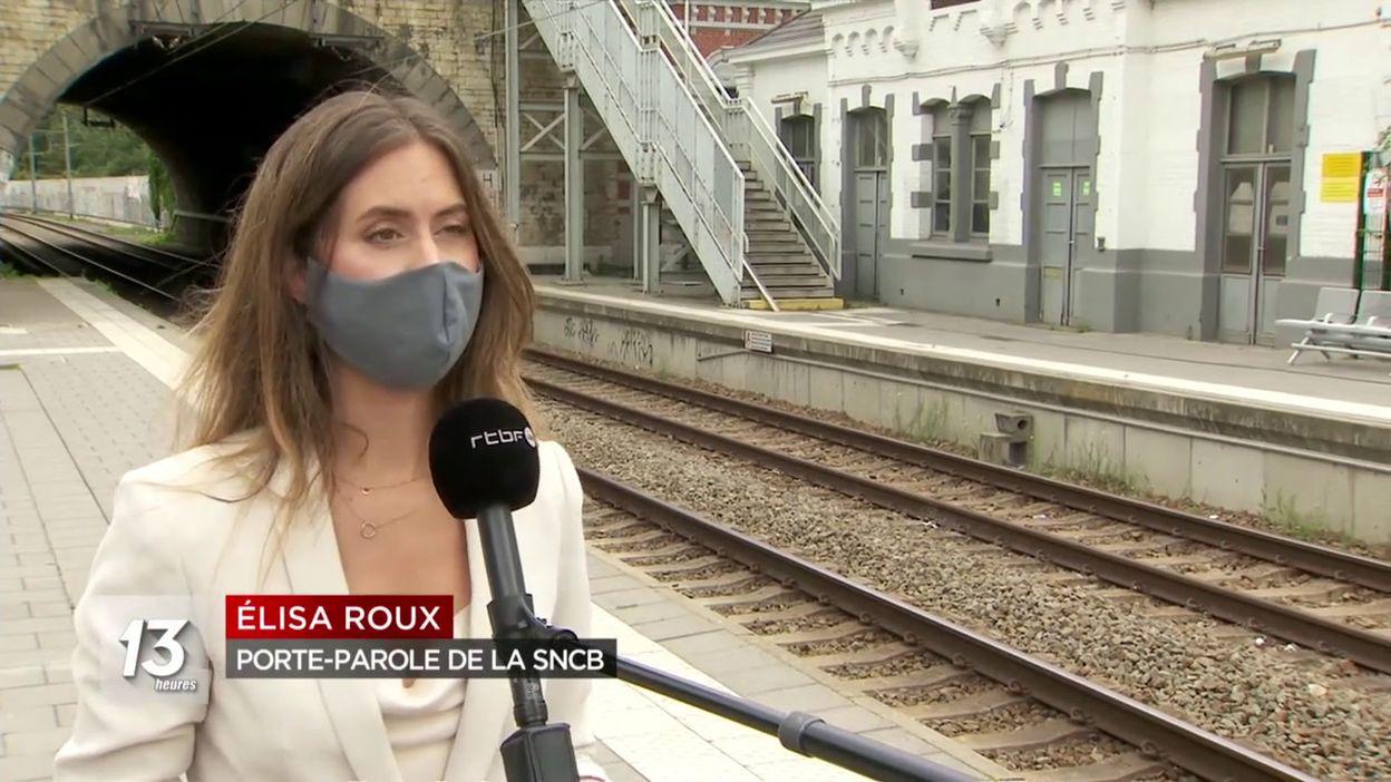 Gare d Ostende en suraffluence