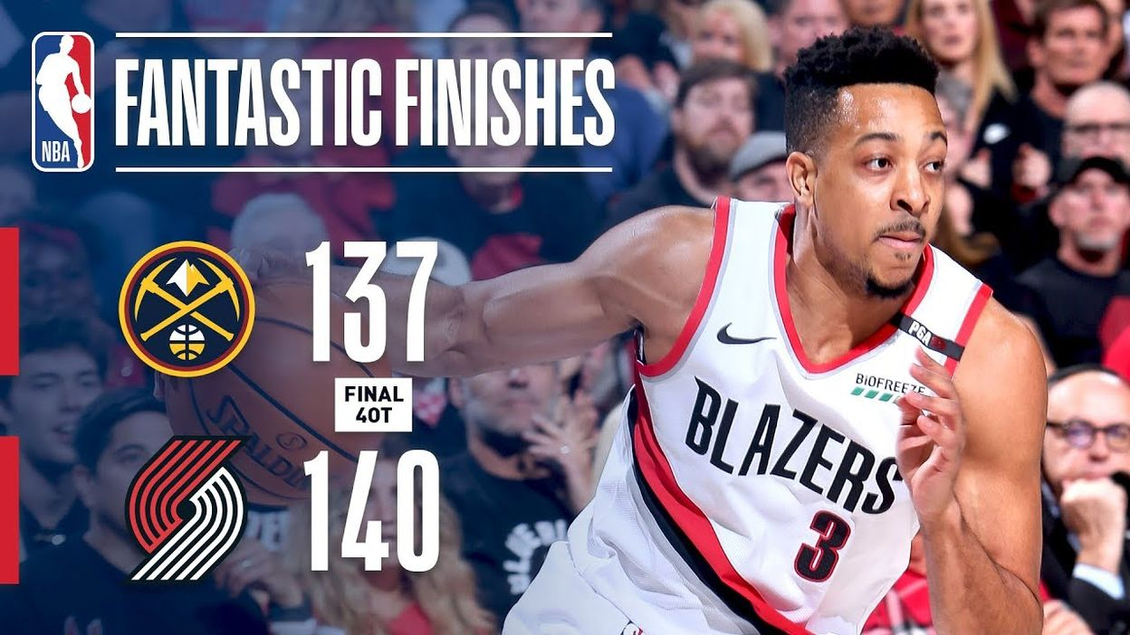 MUST-SEE 4-Overtime Historic Finish Between Trail Blazers & Nuggets | May 3, 2019