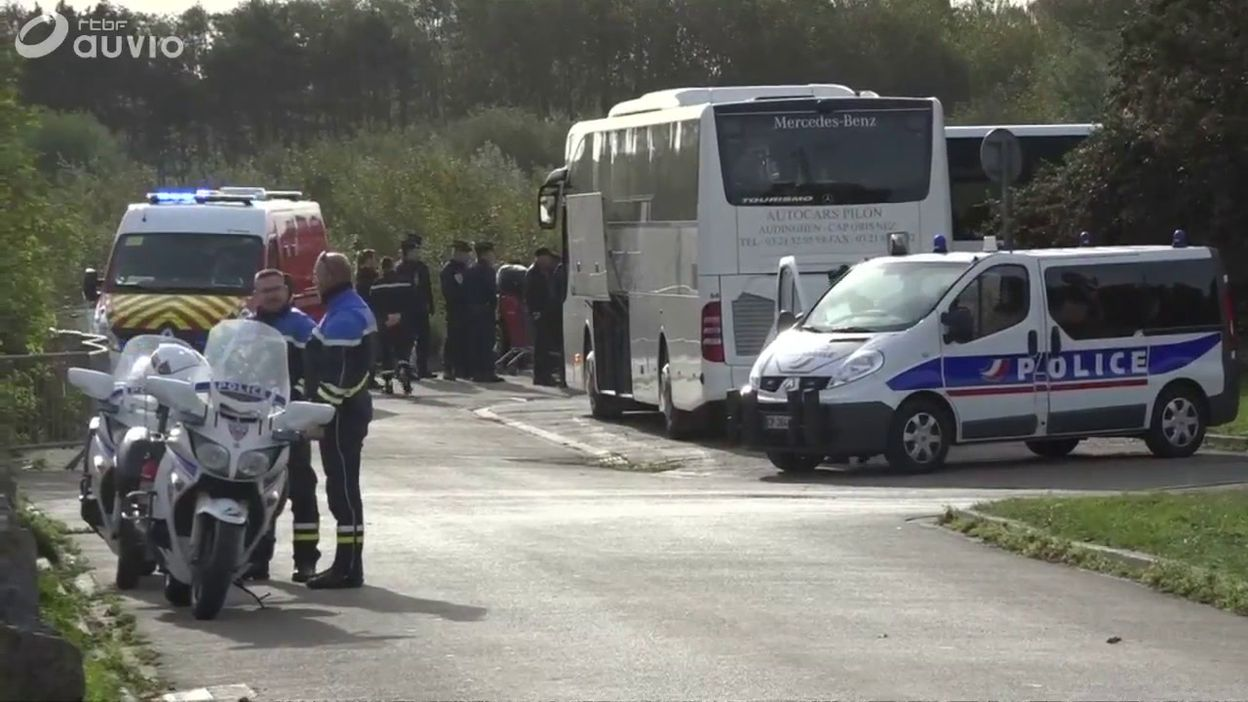 France: évacuation d'un campement de réfugiés à Grande-Synthe, près de Dunkerque