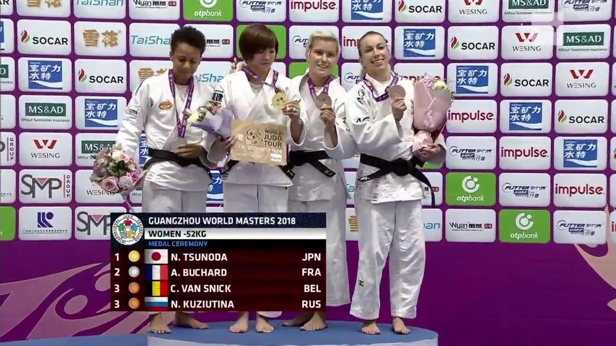 Charline Van Snick décroche le bronze au Masters de Guangzhou