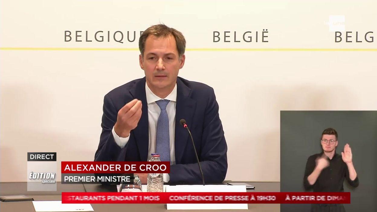 Comité de concertation 16/10 : la Belgique est en phase 4, la propagation du coronavirus s'accélère