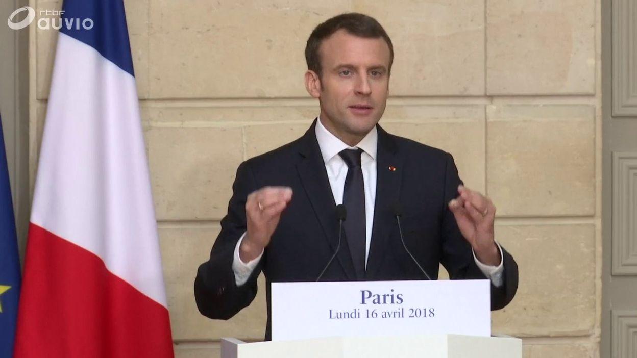 Extrait de la conférence de presse d'E. Macron ce 16 avril (2)