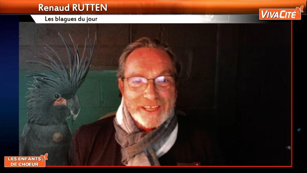 Renaud Rutten et le perroquet vulgaire