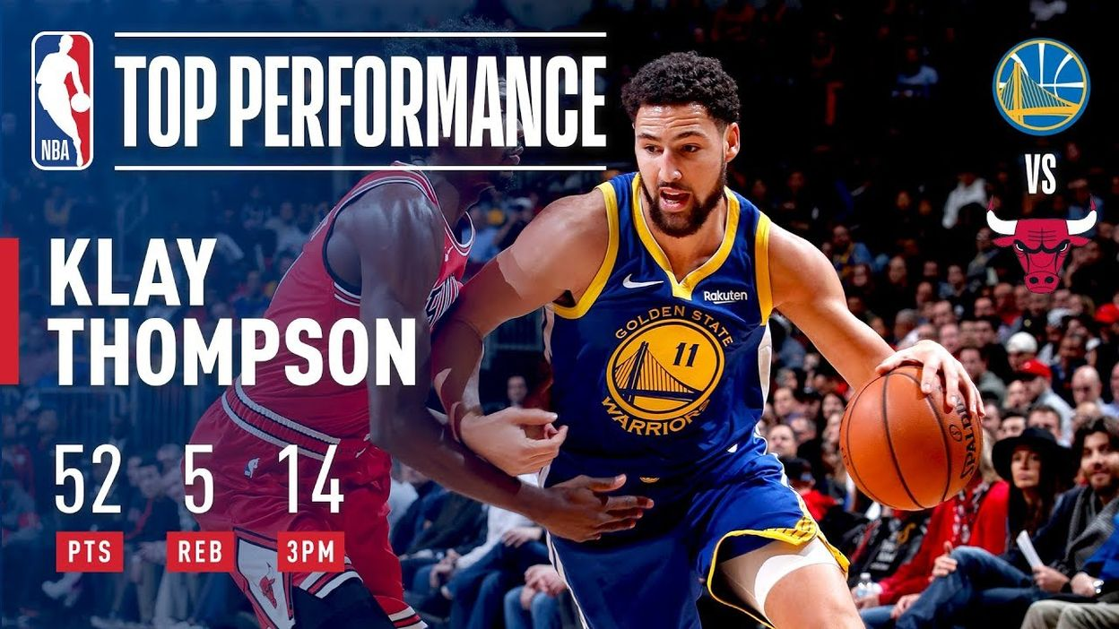 Klay Thompson Drops 52 & BREAKS NBA RECORD With 14 3-Pointers   October 29, 2018