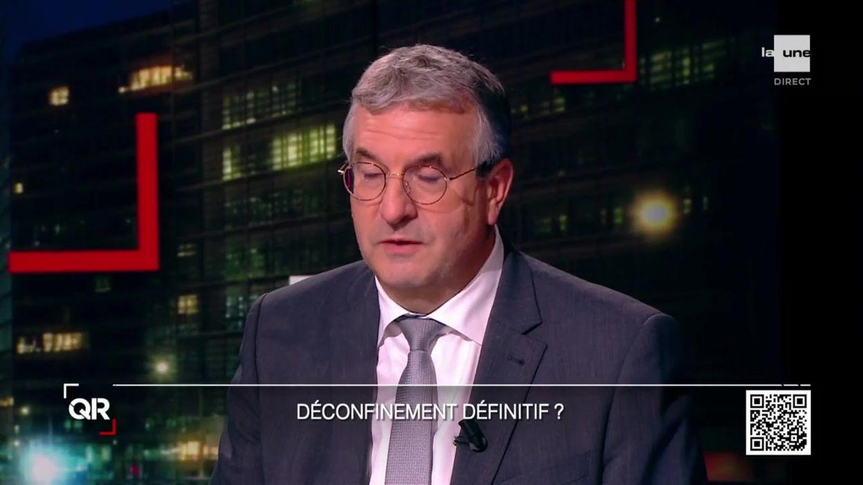 Pierre-Yves Jeholet plaide pour la suppression du port du masque dans les écoles