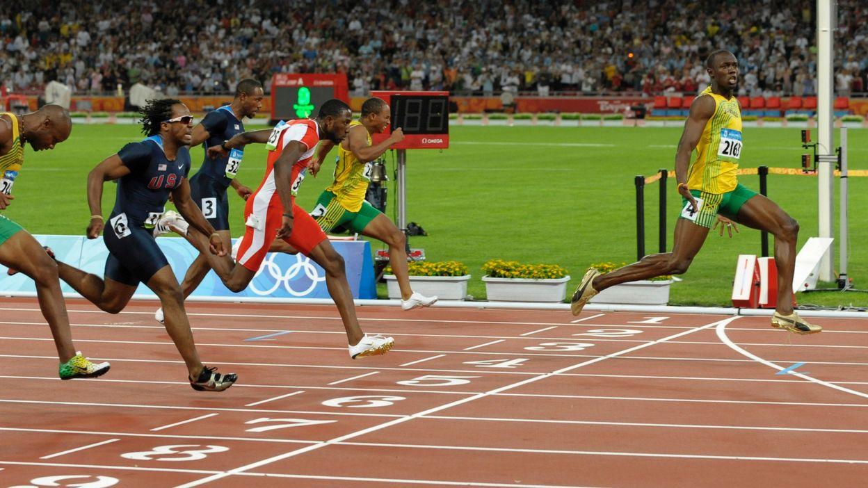 A 21 ans, Usain Bolt est devenu champion olympique du 100m.