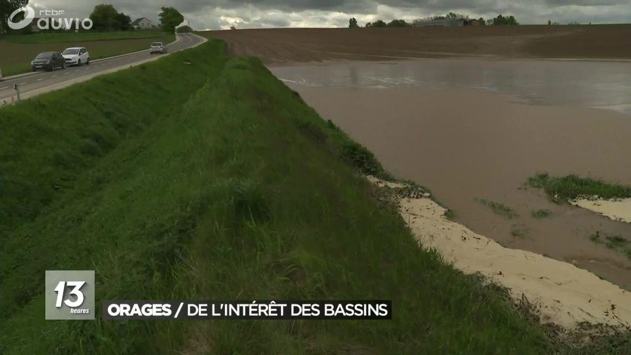 Orp-Jauche : le bassin d'orage a bien fonctionné