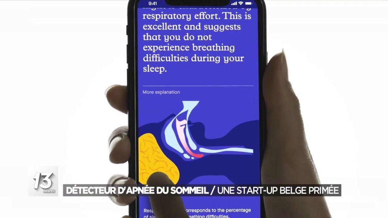 Détecteur apnée du sommeil : une start-up belge primée