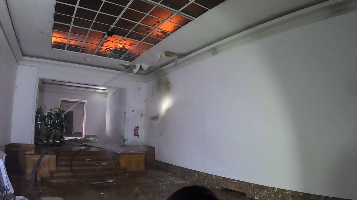Vidéo de l'intervention des pompiers dans les salles de Bozar