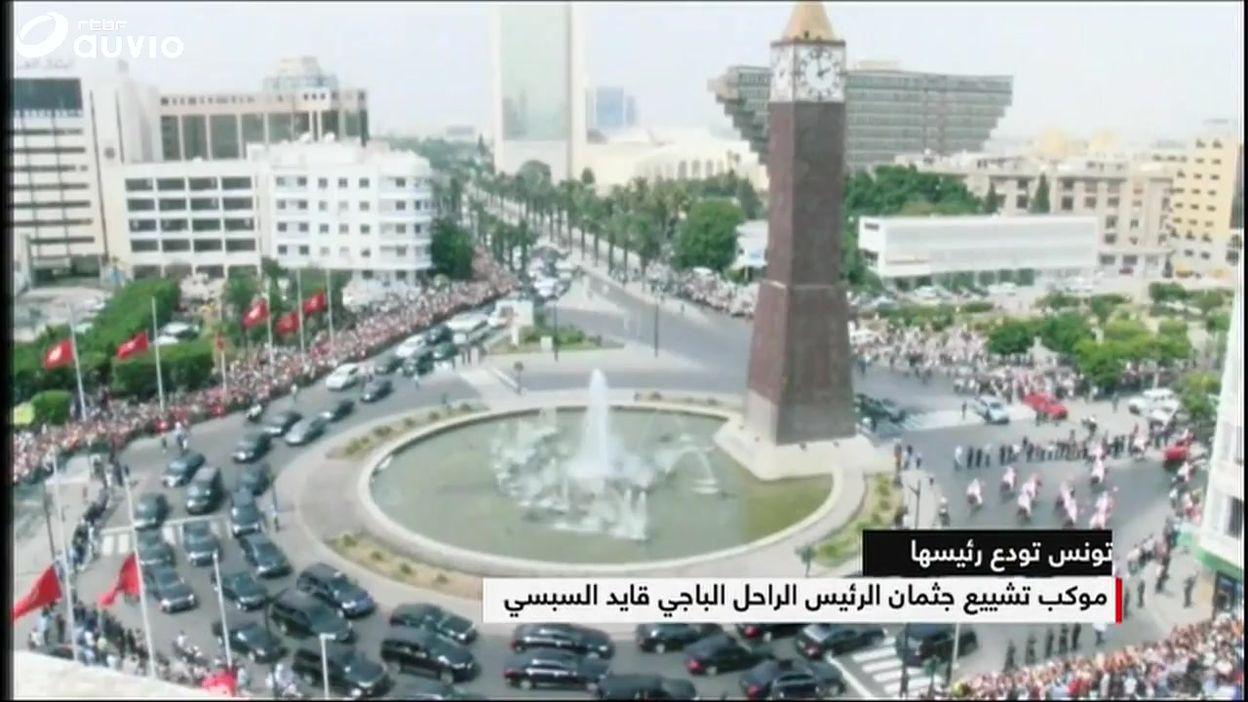 Tunisie: des milliers de personnes présentes pour un dernier hommage au président Essebsi, ce 27 juillet
