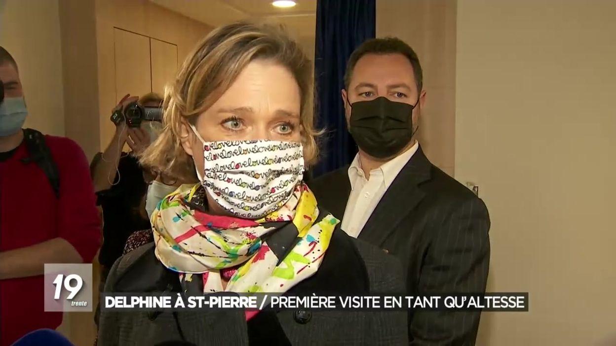 La Princesse Delphine en visite au CHU St-Pierre