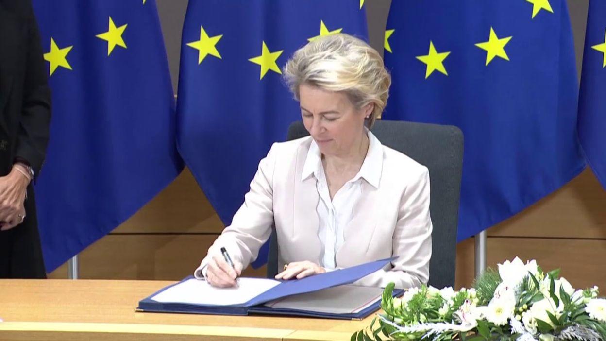 Europe : signature de l'accord post-Brexit à Bruxelles, ce 30 décembre