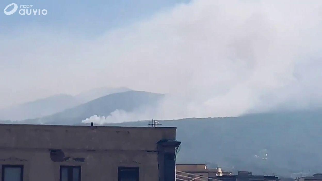 Incendies sur le Vésuve, images amateur