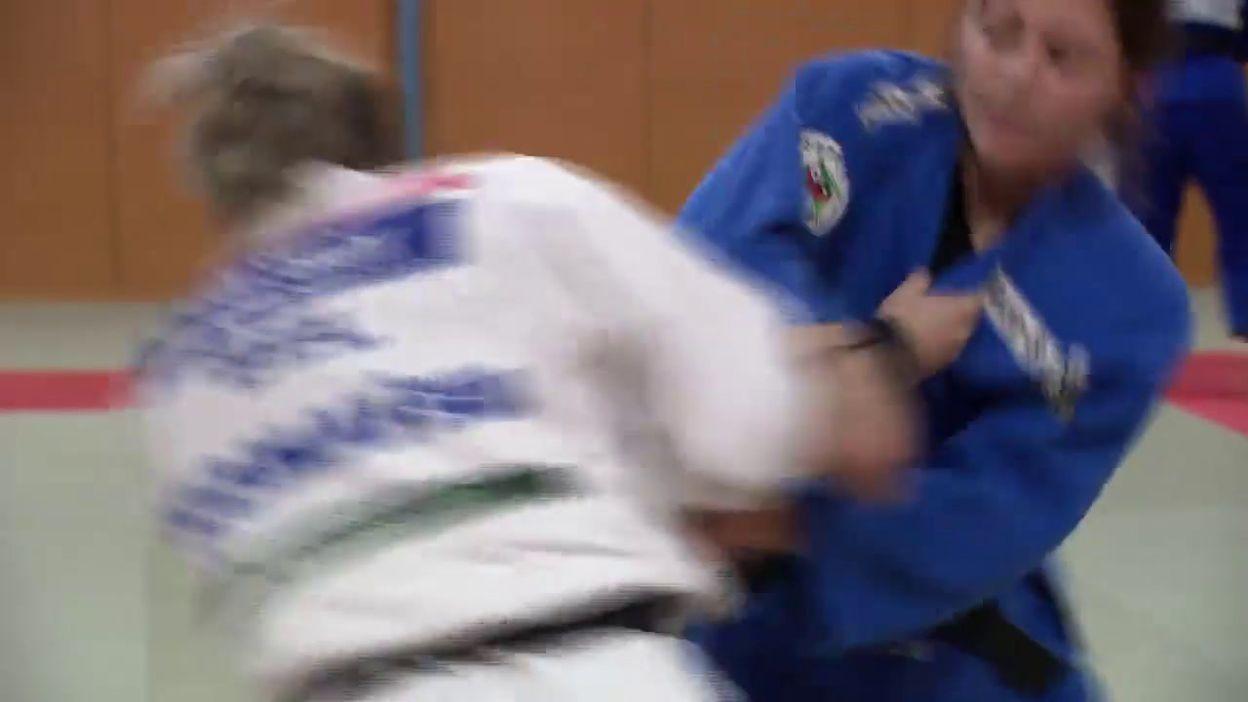 Charline Van Snick avant l'Euro de judo à Prague