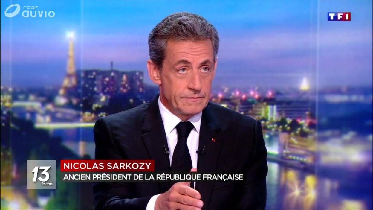 Nicolas Sarkozy s'exprime sur le plateau de TF1