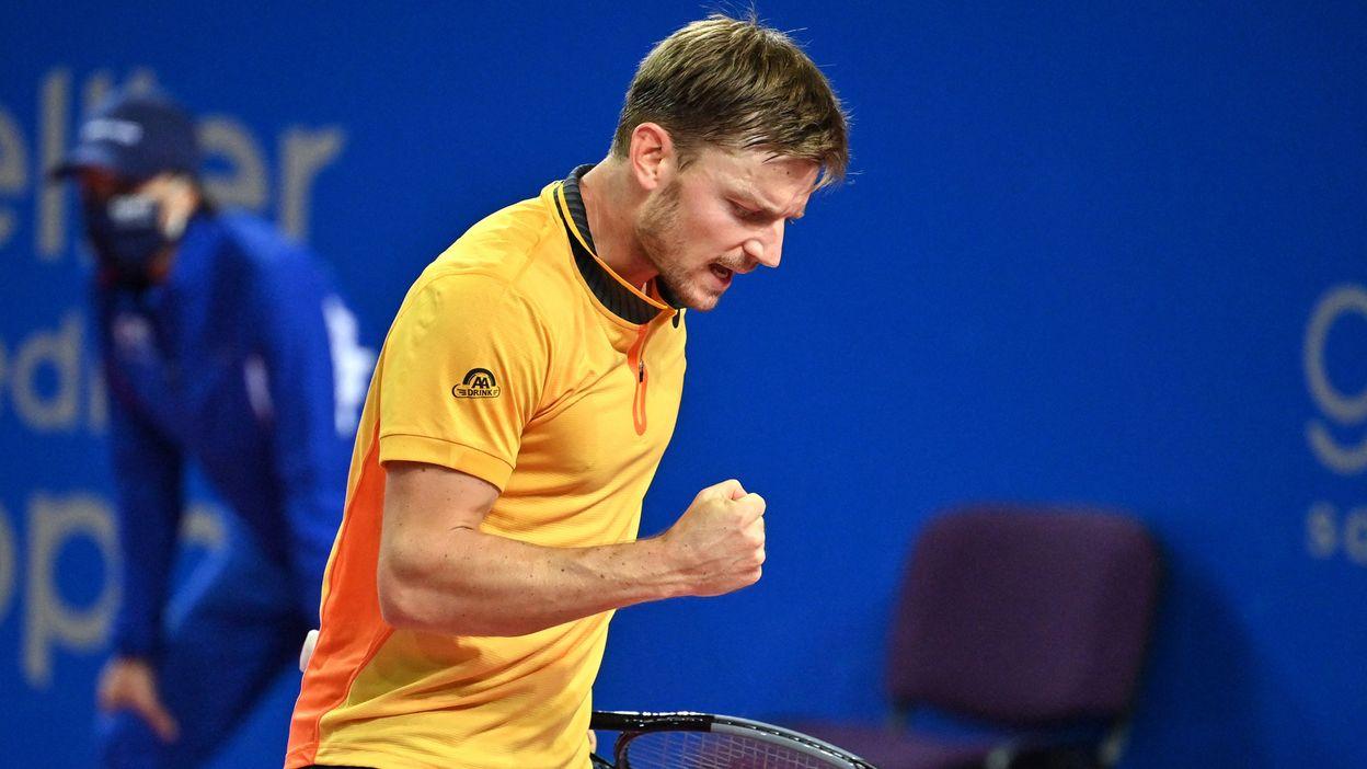 David Goffin après sa demi-finale victorieuse à Montpellier