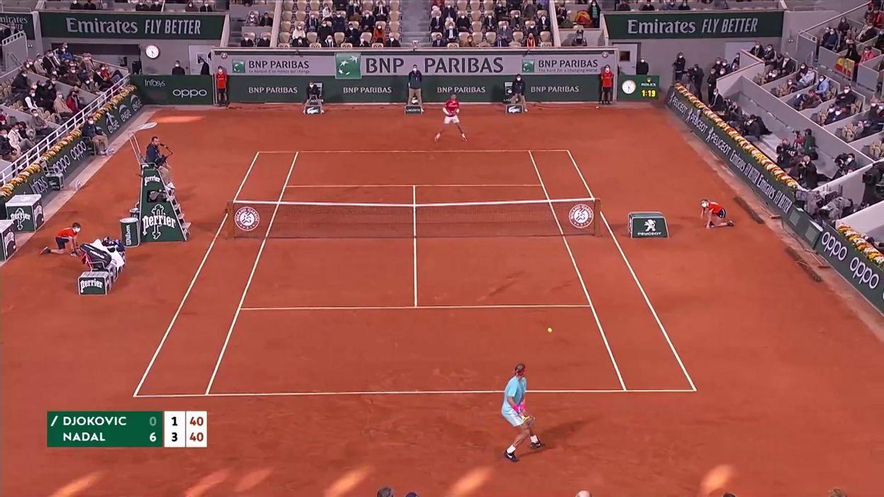Nadal, monstre de défense, écoeure Djokovic