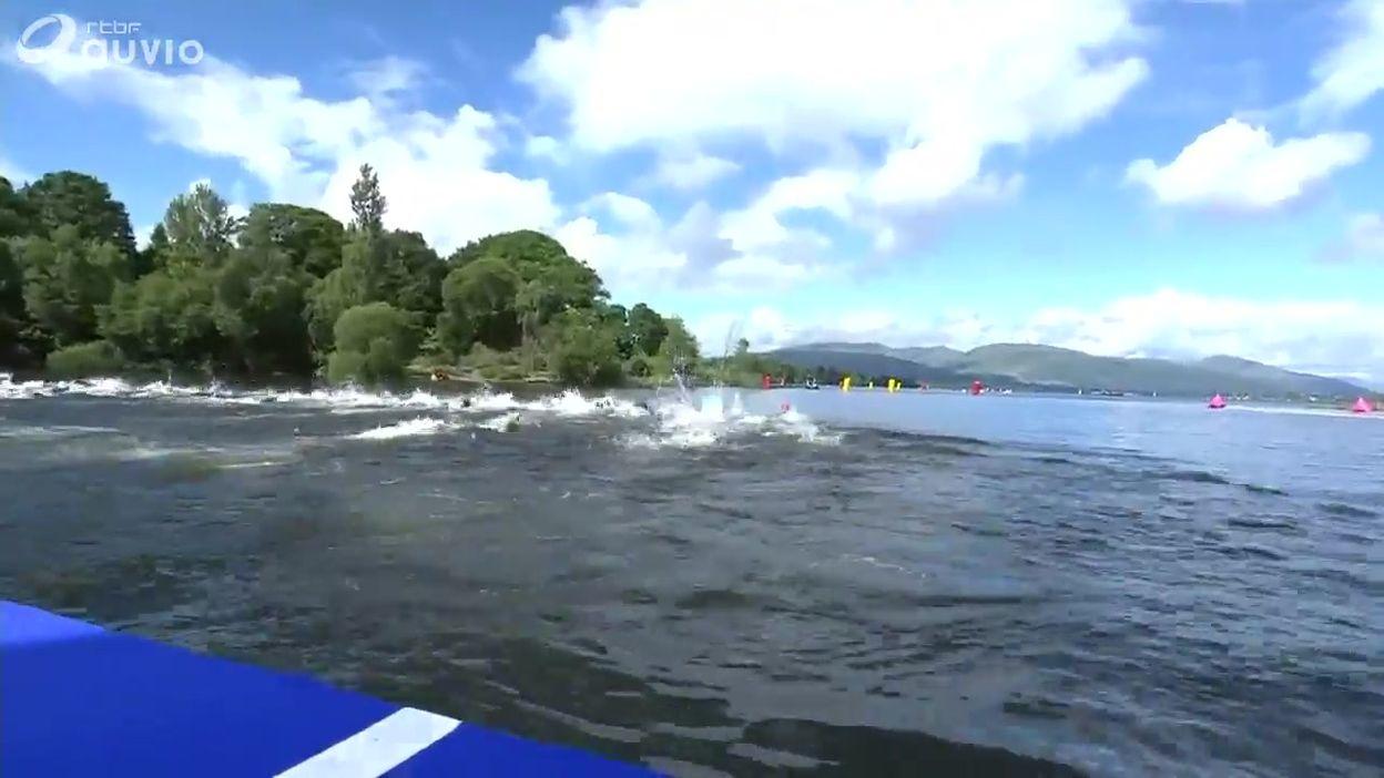 Logan Vanhuys 19ème du 10 km en eau libre