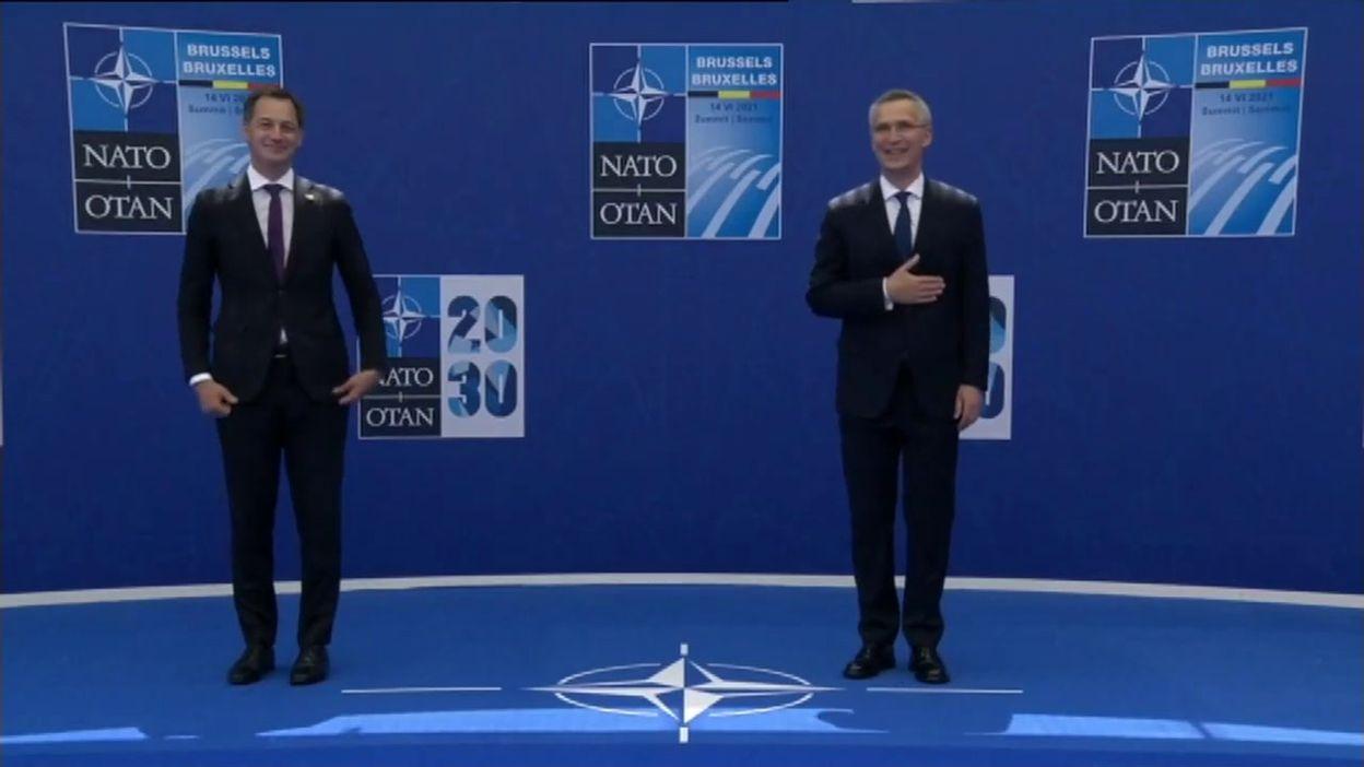 Sommet de l'OTAN: arrivées d'Alexander De Croo et de Mario Draghi