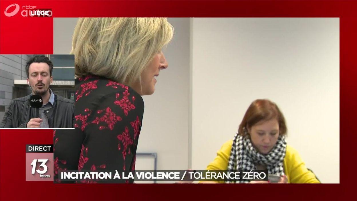 Incitation à la violence : le parquet de Liège annonce une tolérance zéro