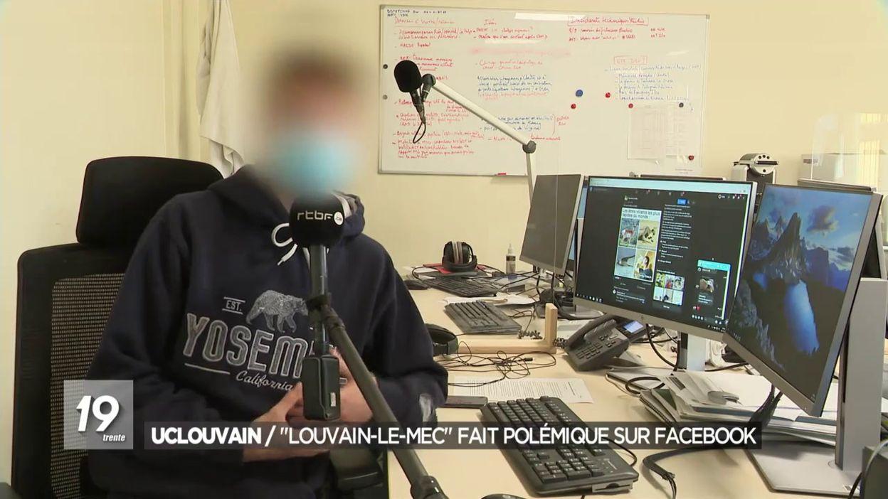 UCLouvain : Louvain-le-mec fait polémique sur facebook