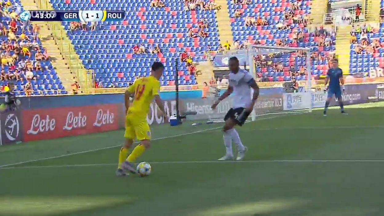 Allemagne-Roumanie : le 1-2 de George Puşcaş