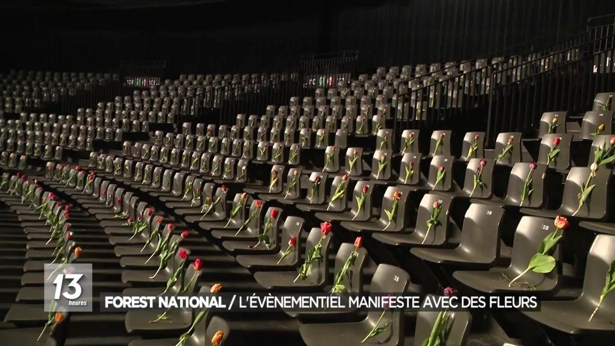 Forest National : l'évènementiel manifeste avec des fleurs