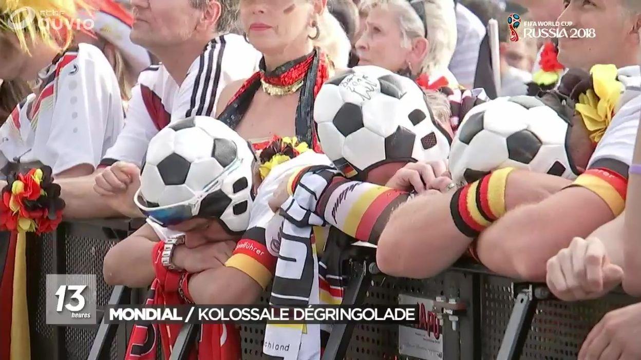 Les réactions après l'élimination de l'Allemagne